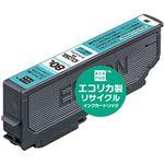 (まとめ)エコリカ リサイクルインクカートリッジ (エプソン ICLC80L互換) ライトシアン 1個【×5セット】