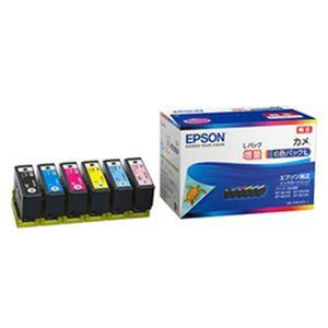 エプソン 純正インクカートリッジ カメ 6色パック(増量) KAM-6CL-L 1箱