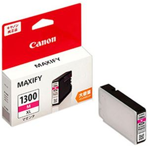 (まとめ)キヤノン純正インクカートリッジ マセンタ(大容量) 型番:PGI-1300XLM  単位:1個【×3セット】