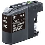 (まとめ)エコリカ リサイクルインクカートリッジ (ブラザー LC213BK互換) ブラック 1個【×5セット】