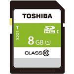 (まとめ)東芝  SDカード  8GB 1個 SDAR40N08G【×5セット】