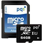 (まとめ)PQIMicroSDHCカード 64GB Class10 UHS-I対応 MS10U11-64 1枚【×2セット】