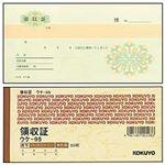 (まとめ)コクヨ 領収証(小切手判・2枚複写) 3色刷り 1冊【×10セット】