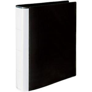 (まとめ)オフィスデポオリジナル プレゼン用リングファイル【4穴】 A4タテ ブラック 1冊【×20セット】