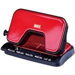 (まとめ)マックス 2穴パンチスクーバ赤 1個 DP-15T/R【×10セット】