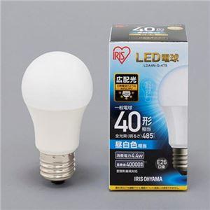 (まとめ)アイリスオーヤマ LED電球 E26 広配光タイプ 40W形相当 昼白色 密閉型器具対応 LDA4N-G-4T5 1個【×10セット】
