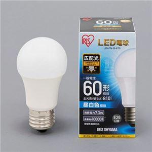 (まとめ)アイリスオーヤマ LED電球 E26 広配光タイプ 60W形相当 昼白色 密閉型器具対応 LDA7N-G-6T5 1個【×5セット】