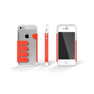 HandHold ホワイト/レッド FB102-WHRD iPhone5用ケース