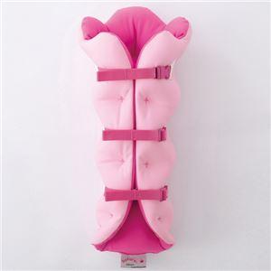 musshu(ムッシュ) 足枕 サクラ咲くまくら(両足用) ピンク - 拡大画像