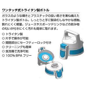 SIGG ワンタッチ式トライタン製ボトル トータルクリア ワン(ブルー 0.5L)