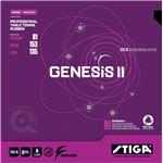 STIGA(スティガ) 裏ソフトラバー GENESIS II SPIN M(ジェネシス II スピン M) BLACK 特厚