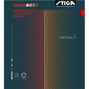 STIGA(スティガ) 粒高ラバー VARTICAL 55 OX(バーティカル 55 OX) RED スポンジ無し