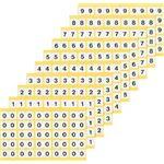 ナンバーラベルL 数字5 (25片×10シート) KL-1-5