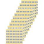 ナンバーラベルM 数字8 (25片×10シート) KM-1-8