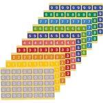 カラーナンバーラベルL 数字8 (25片×10シート) KL-2-8