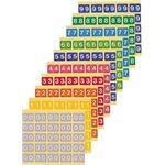 カラーナンバーラベルM 数字9 (25片×10シート) KM-2-9