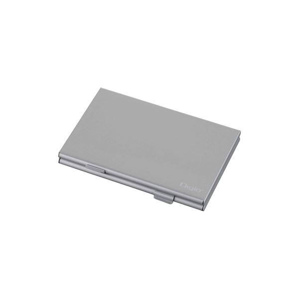 (業務用セット) Digio2 ダブルタイプメモリーカードケース MCC-1100SL シルバー【×5セット】f00