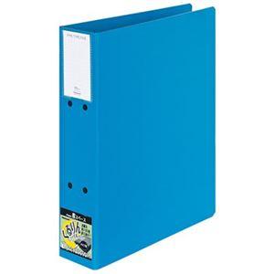 (業務用セット) くるりんファイル パイプ式ファイル・両開き/A4S型 綴厚50m・ブルーPFPC-A4S-5B【×5セット】