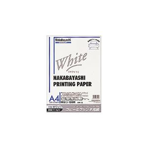 (業務用セット) コピー&プリンタ用紙 ホワイトタイプ A4:100枚入 ヨW-12【×10セット】 h01
