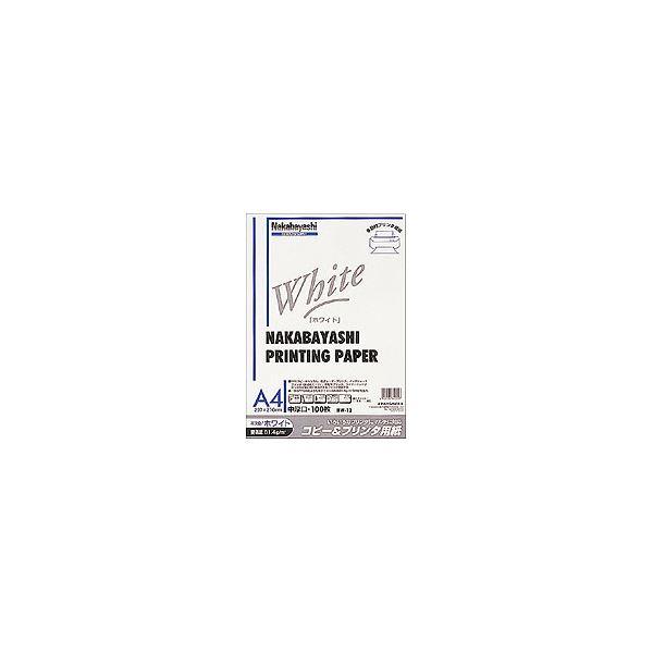 (業務用セット) コピー&プリンタ用紙 ホワイトタイプ A4:100枚入 ヨW-12【×10セット】f00