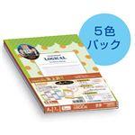 (業務用セット)ナカバヤシ ロジカルノート 【ファンシードット】 ノ-A505A-5P A5サイズ A罫 5冊パック【×2セット】