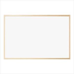 (業務用セット)ナカバヤシウッドホワイトボードW900×H600×D14mmWBM-E9060NMナチュラル木目【×2セット】