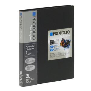 (業務用10セット)PROFOLIO(プロフォリオ) The Original デジタルアート&フォトホルダー 2L判/24P ブラック IA-12-5N