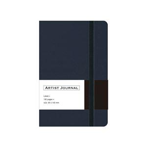 (業務用5セット) 革シボ調ノート ARTIST JOURNAL A6スリム/7mm罫/90枚 ネイビー NA603-LN