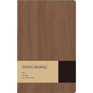 (業務用5セット) 木目調ノート ARTIST JOURNAL A5スリム/無地/90枚 ブラウン NA502-WS