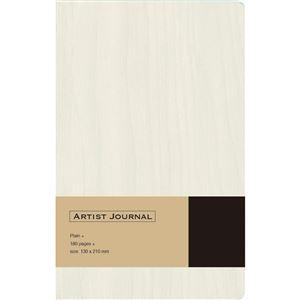 (業務用5セット) 木目調ノート ARTIST JOURNAL A5スリム/無地/90枚 ホワイト NA502-WW