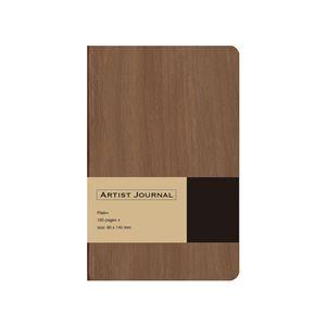 (業務用5セット) 木目調ノート ARTIST JOURNAL A6スリム/無地/90枚 ブラウン NA602-WS