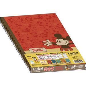 (業務用10セット) ディズニー スイングロジカルノート B5/A罫/30枚 ミッキーマウス/ファニーポーズ 5冊パック ノS-137A-5P