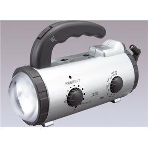 アイリスオーヤマ 手回し発電充電ラジオライト シルバー JTL-20 - 拡大画像