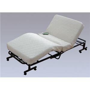 アイリスオーヤマ 折りたたみコイル電動ベッド ホワイトOTB-CDN - 拡大画像
