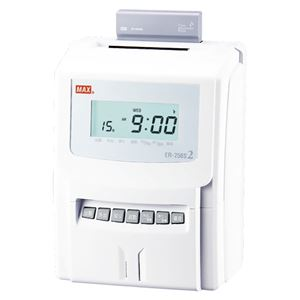 マックス 電子タイムレコーダ ER-250S2 ホワイト 1台