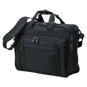クラウン 多機能ビジネスバッグ CR-BB730-B 黒 1個 - 拡大画像