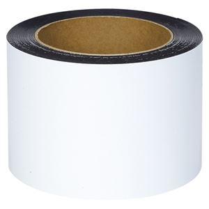 マグエックス マグネットロール カラー ツヤ有りタイプ MSGR-08-100-10-W 白 1巻