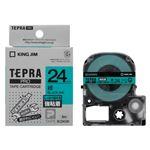 キングジム 「テプラ」PRO SRシリーズ専用テープカートリッジ 強粘着ラベル 8m SC24GW 緑 黒文字 1巻8m