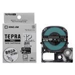 キングジム 「テプラ」PRO SRシリーズ専用テープカートリッジ マットラベル 8m SB12TS 透明 白文字 1巻8m