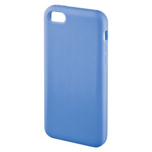 サンワサプライ iPhone5c用シリコンケース PDA-IPH001BL ブルー 1個 - 拡大画像