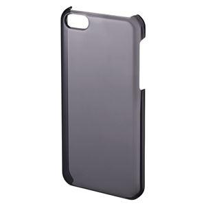 サンワサプライ iPhone5c用クリアハードケース PDA-IPH003BK ブラック 1個 - 拡大画像