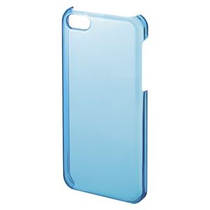 サンワサプライ iPhone5c用クリアハードケース PDA-IPH003BL ブルー 1個 - 拡大画像