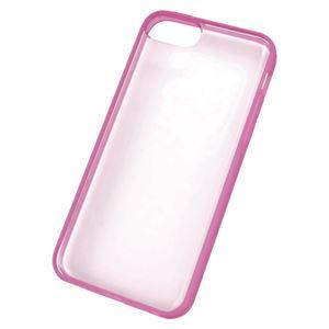 エレコム iPhone 5c用ハイブリッドケース PS-A13UBCPN ピンク 1個 - 拡大画像