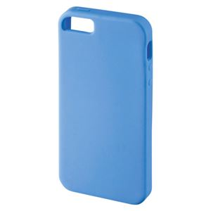 サンワサプライ シリコンケース iPhone5/5s用 PDA-IPH50BL ブルー 1個