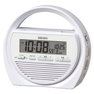SEIKO(セイコー) 防災電波目覚し時計 SQ764W 1個 - 拡大画像