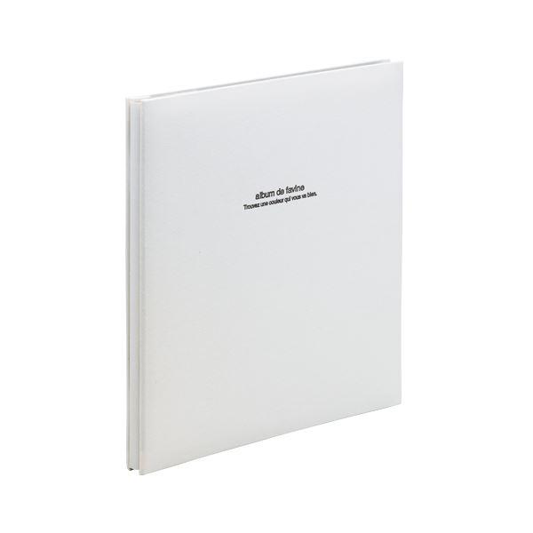 ナカバヤシ 100年台紙アルバム アH-LD-191-W ホワイト 1冊f00