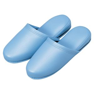 オーミケンシ 抗菌レザー調スリッパ 10足組 36052 ブルー 10足 h01