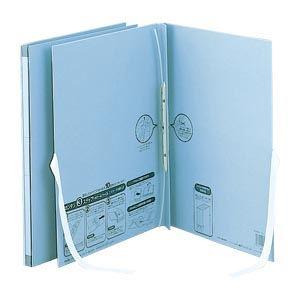 (業務用セット)のび-るファイルエスヤード紙表紙外ひも付(背幅17-117mm)AE-50FH-10ブルー1冊入【×5セット】