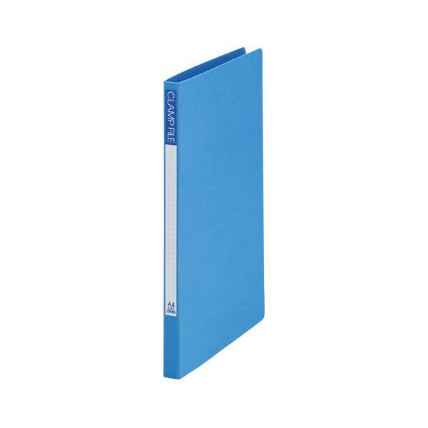 (業務用セット) ビュートンジャパン クランプファイル A4判タテ型(ボード表紙)(背幅18mm) SCL-A4-B ブルー 1冊入 【×10セット】