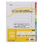 (業務用セット) テージー カラーインデックスPP A4判タテ型(2穴) IN-1412 1組入 【×5セット】